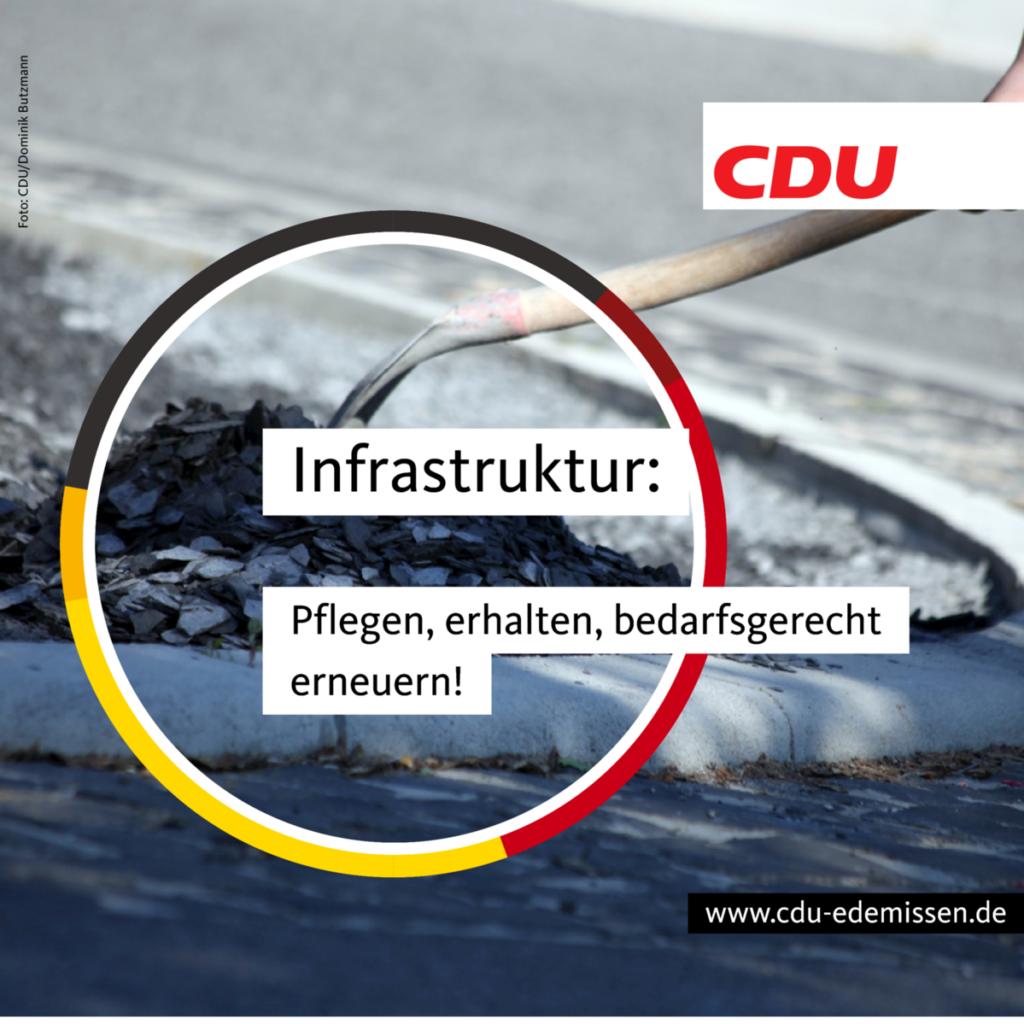 Infrastruktur erhalten, pflegen und bedarfsgerecht erneuern!