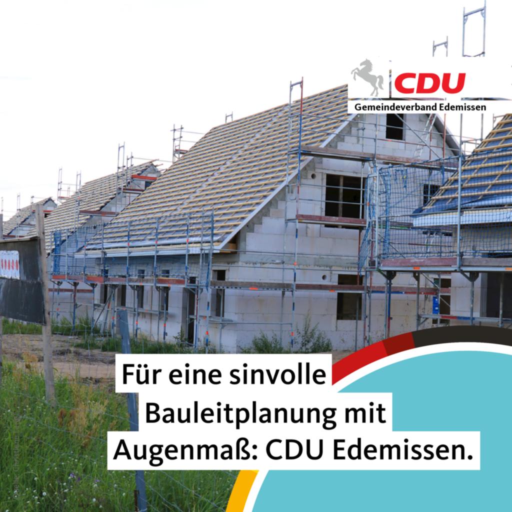 Für eine Bauleitplanung mit Augenmaß: CDU Edemissen