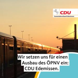 Öffentlichen Personennahverkehr ausbauen!